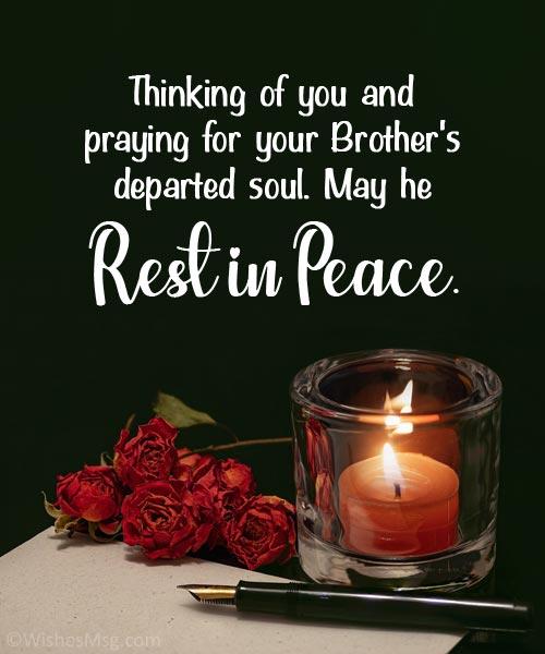 condolences loss of brother