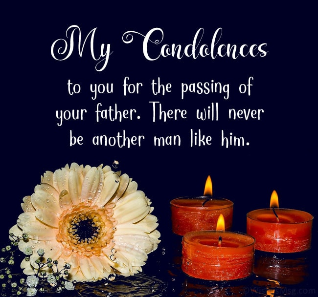 condolences messages for loss of father