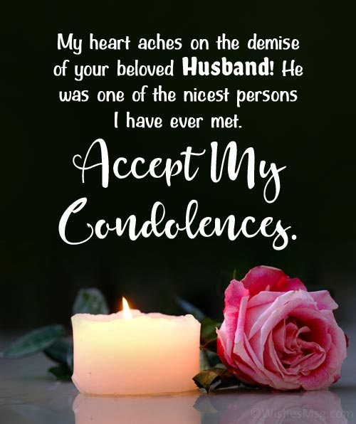 condolences messages for loss of husband
