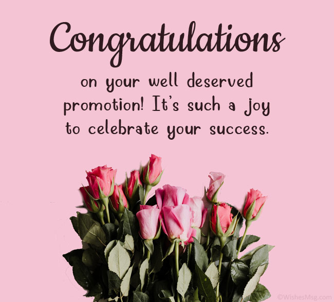 congrats on your promotion
