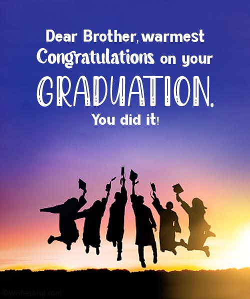 congratulations brother on your graduation
