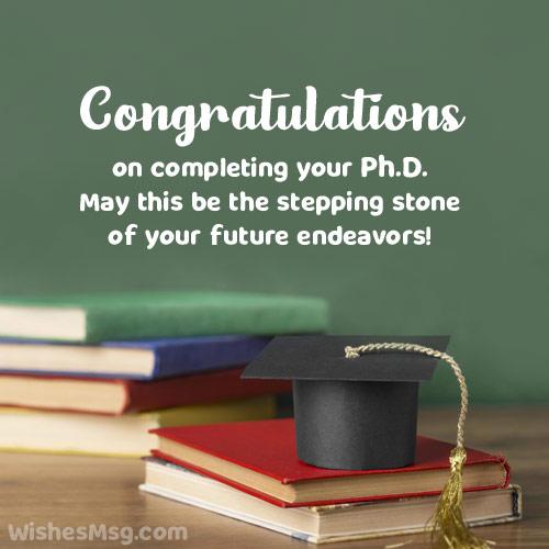 congratulations for phd degree