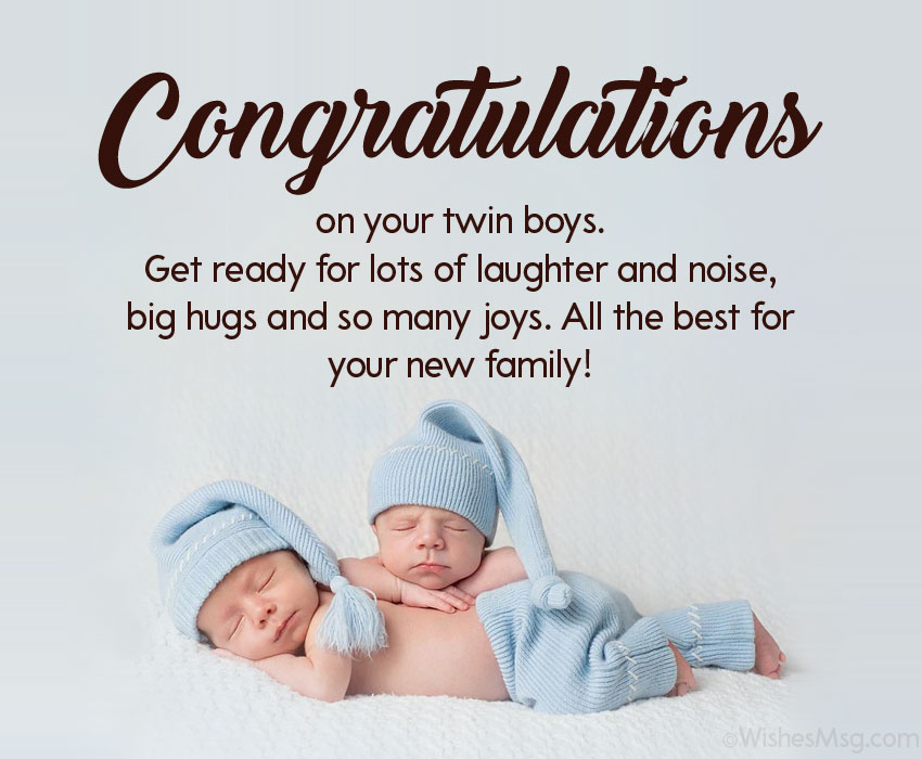 congratulations message for twins baby boy