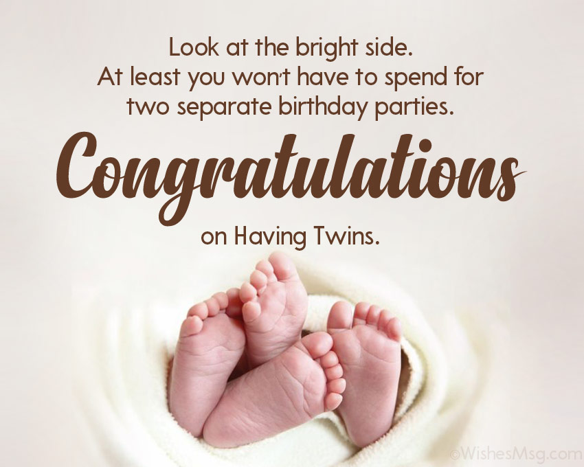 congratulations message for twins