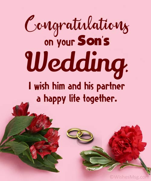 congratulations on your son's wedding messages