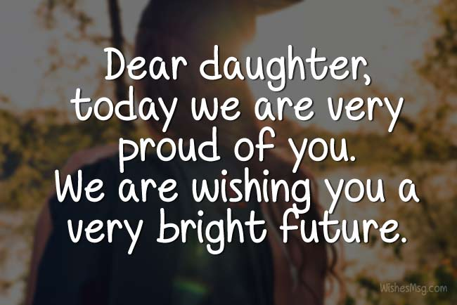 daughter graduation wishes from parents