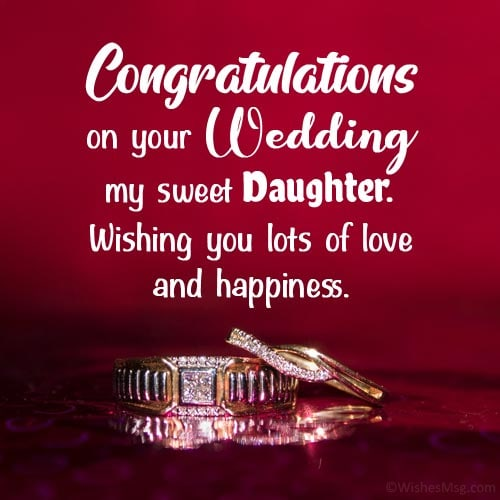 daughter marriage wishes