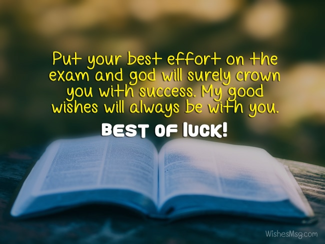 exam wishes and messages