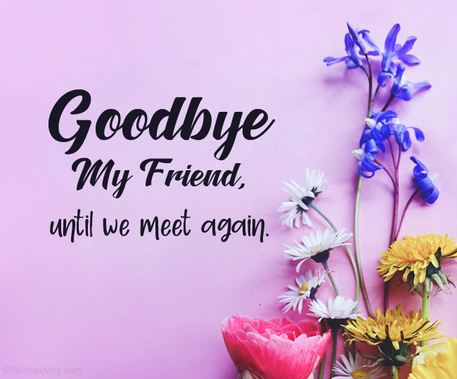 farewell message for friend