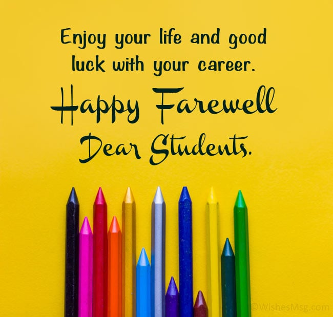farewell message for students from teacher