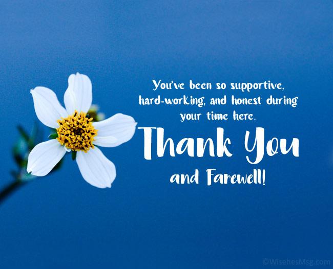 farewell message to employee retiring