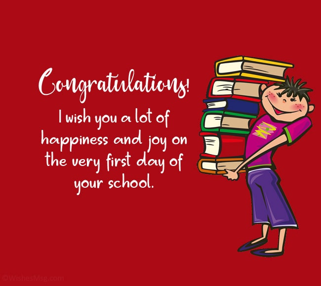 first day of school wishes for boy