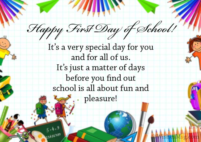 Happy First Day of School Wishes