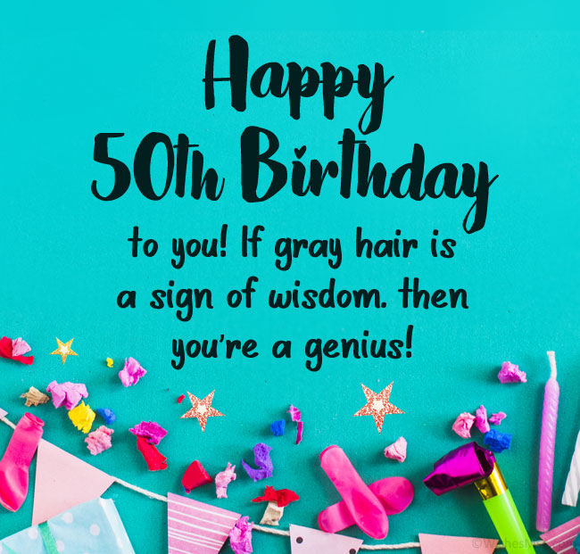funny 50th birthday wishes
