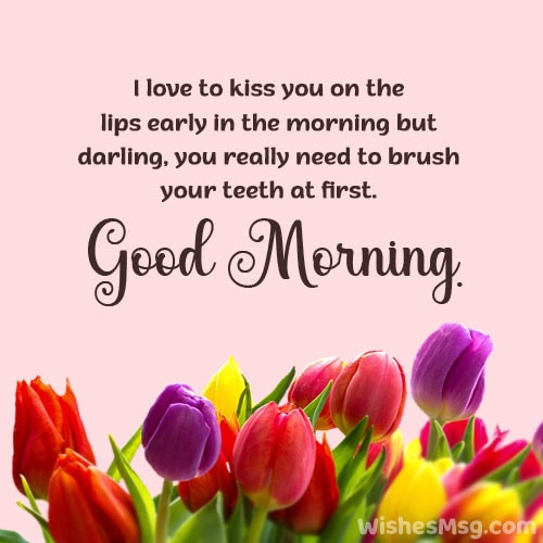 funny good morning message for husband