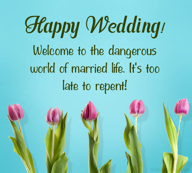 funny marriage wishes