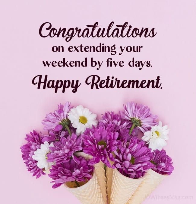 funny retirement congratulation messages