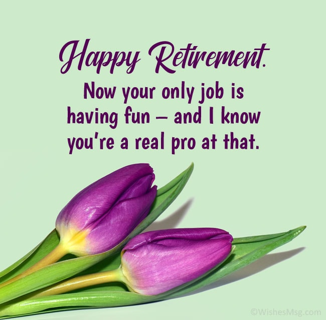 funny retirement wishes for a friend