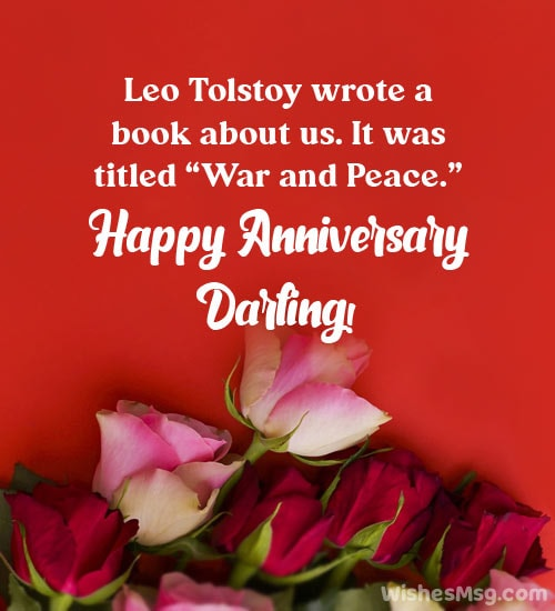 funny wedding anniversary wishes to wife