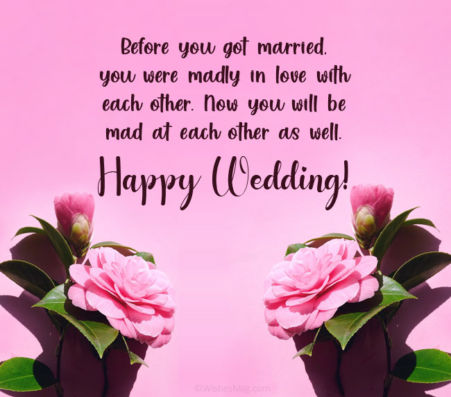 funny wedding wishes for best friend