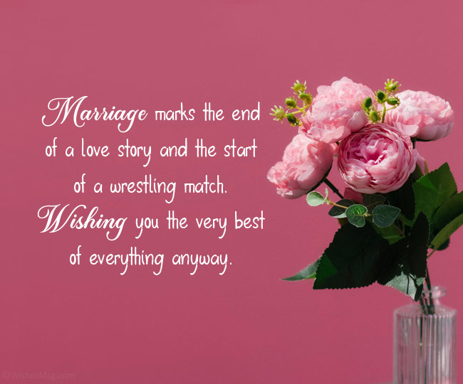 funny wishes for newly married couple