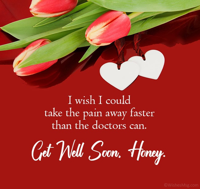 get well soon message for him