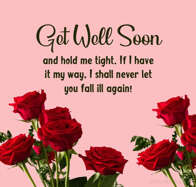 get well soon message for husband