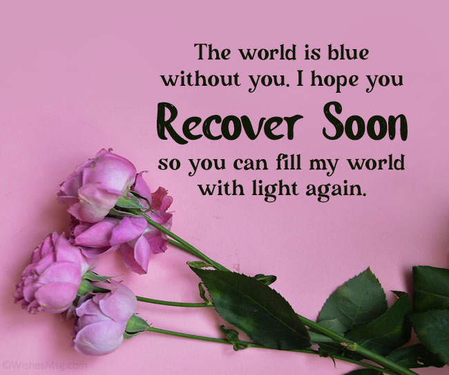 get well soon message for my wife