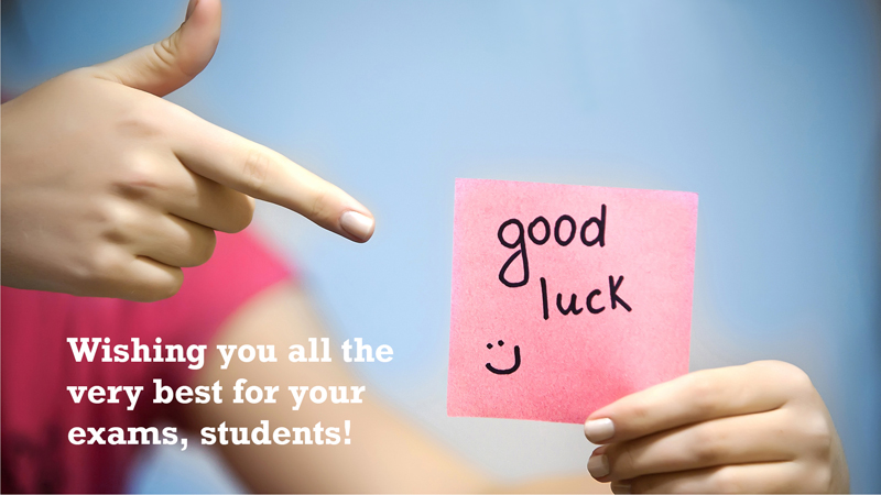 best of luck exam facebook message