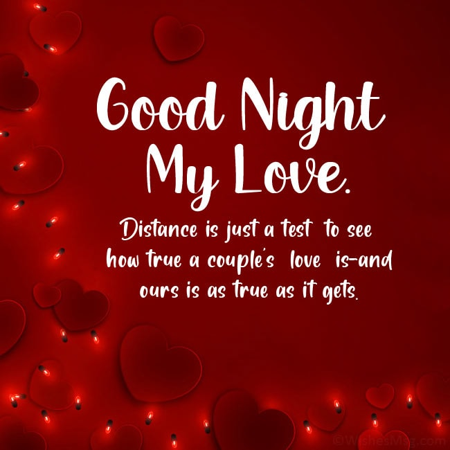 good night love message for my wife far away