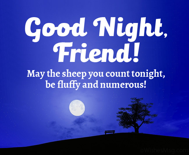 good night message for a friend