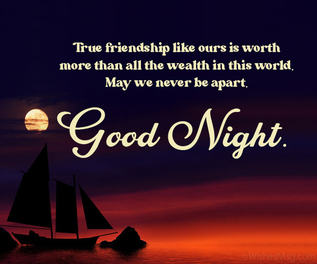 good night message for friend