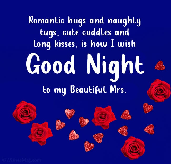 Good night message to my lovely wife