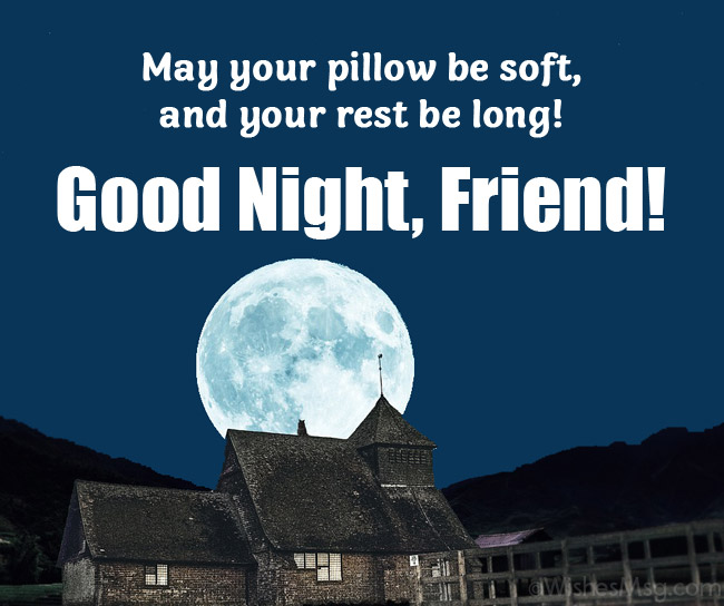 good night message to a friend