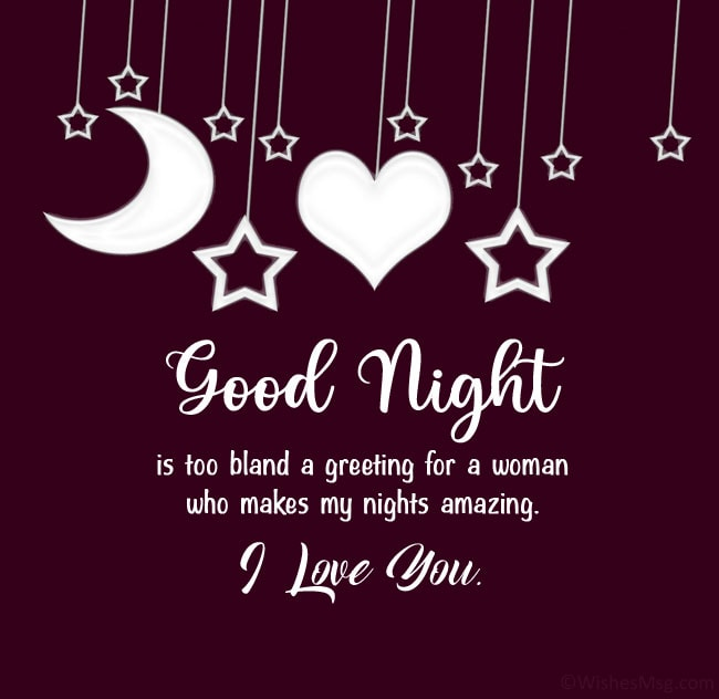 good night message to my wife
