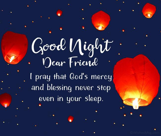 good night prayer message for a friend