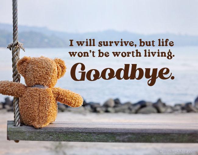 goodbye message to boyfriend
