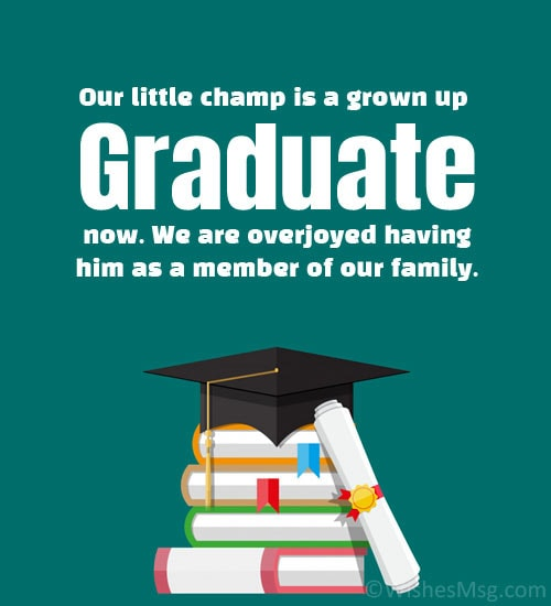 graduation announcement wording from family