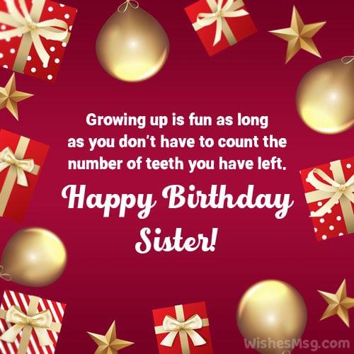 happy birthday sister quotes funny