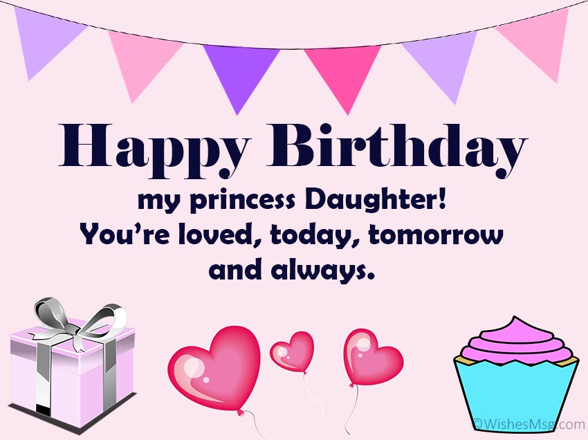 daughter birthday cards wishes