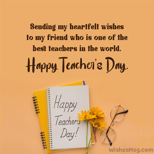 happy teachers day wishes for friend