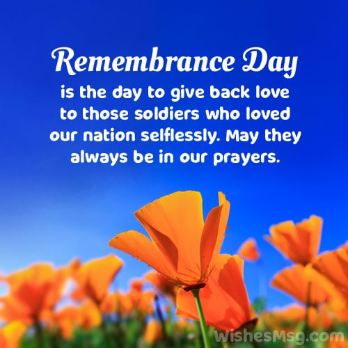 heart touching remembrance day message