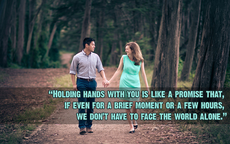 Holding Hand Quotes and Messages – Romantic & Cute