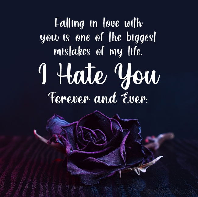 i hate you message