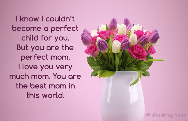 I Love You Mom Quotes Custom Beautiful Message For Mother I Love You Mom Quotes WishesMsg