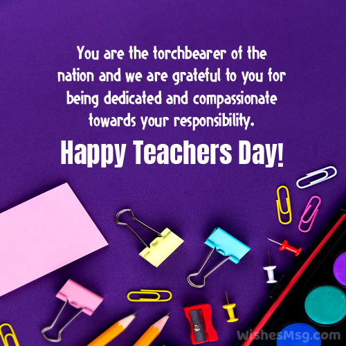 inspirational message for teachers day