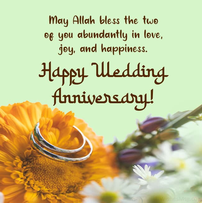 islamic wedding anniversary messages