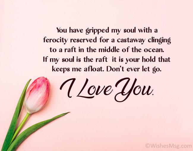 long sweet message for boyfriend