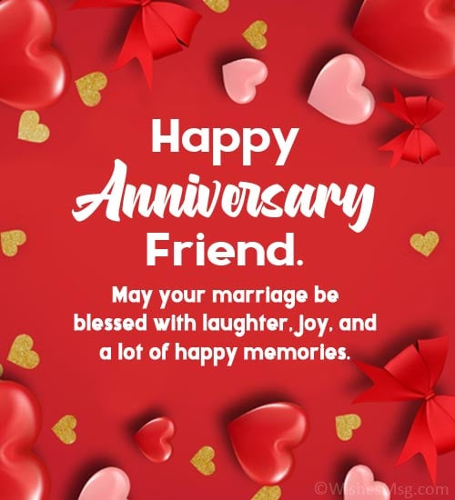 marriage anniversary wishes to friend