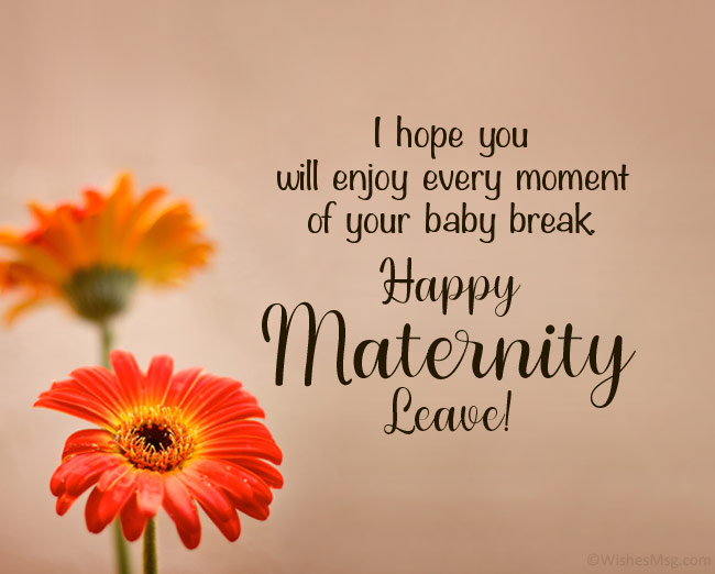 maternity leave farewell message